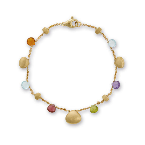 Marco Bicego® Paradise Collection 18K Yellow Gold Mixed Gemstone Single Strand Bracelet
