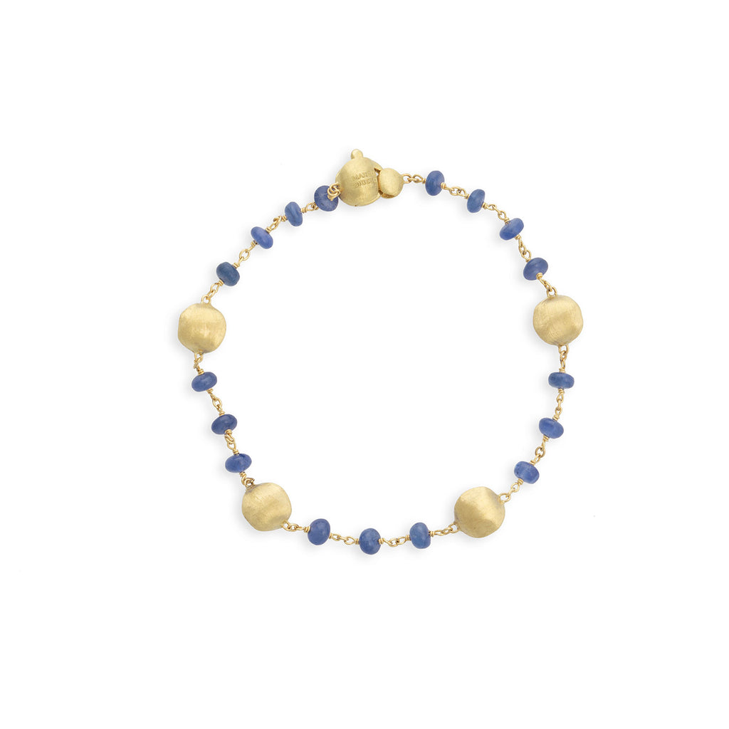 Marco Bicego® Africa Collection 18K Yellow Gold and Sapphire Single Strand Bracelet