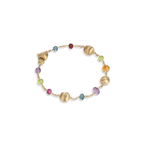 Marco Bicego® Africa Collection 18K Yellow Gold Mixed Gemstone Single Strand Bracelet