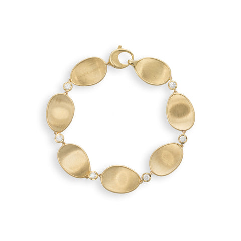 Marco Bicego® Lunaria Collection 18K Yellow Gold and Diamond Bracelet