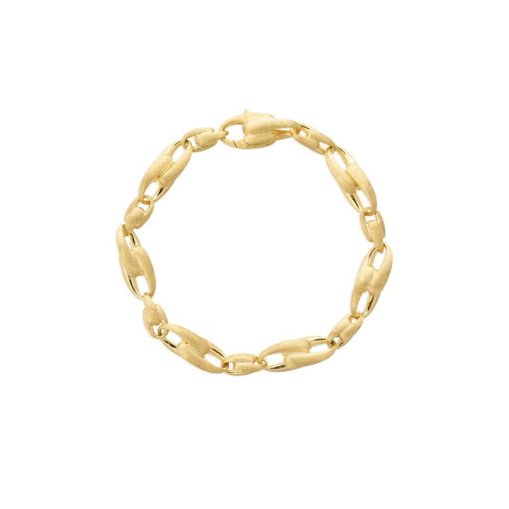Marco Bicego® Lucia Collection 18K Yellow Gold Medium Alternating Link Bracelet