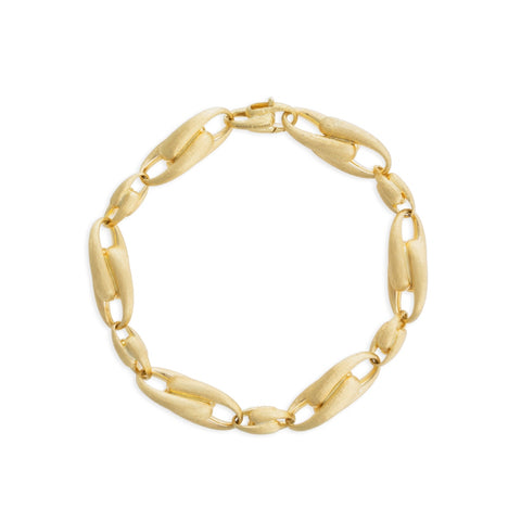 Yellow Gold Large Alternating Link Bracelet