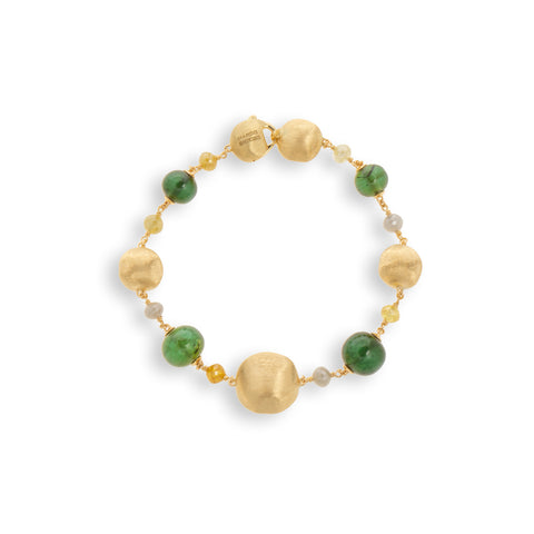 Unico Green Tourmaline and Multi Color Diamond Bracelet