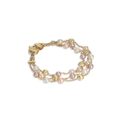 Marco Bicego® Africa Pearl Collection 18K Yellow Gold and Pearl Three Strand Bracelet image 1