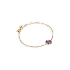 Marco Bicego® Jaipur Color Collection 18K Yellow Gold and Amethyst Bracelet image 1