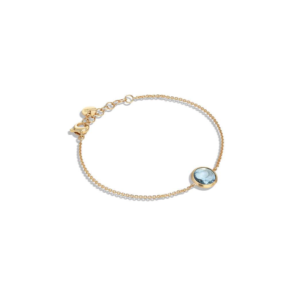 Marco Bicego® Jaipur Color Collection 18K Yellow Gold and Blue Topaz Bracelet
