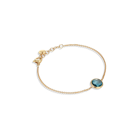 Marco Bicego® Jaipur Color Collection 18K Yellow Gold and London Blue Topaz Bracelet