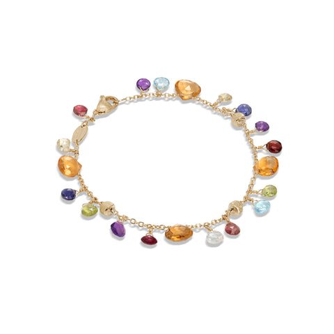 Marco Bicego® Paradise Collection 18K Yellow Gold Citrine and Mixed Gemstone Single Strand Bracelet