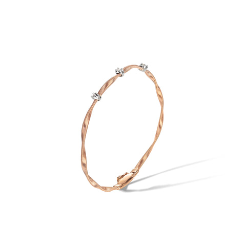 Marco Bicego® Marrakech Collection 18K Rose Gold and Diamond Stackable Bangle