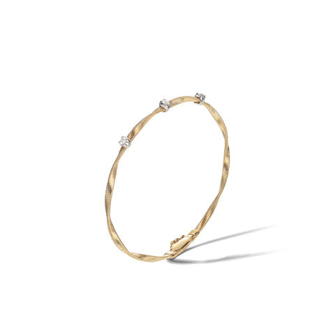 Marco Bicego® Marrakech Collection 18k Yellow Gold and Diamond Stackable Bangle