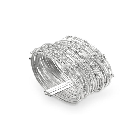 Marco Bicego® Unico Collection Goa 18K White Gold and Diamond Multi Strand Bracelet