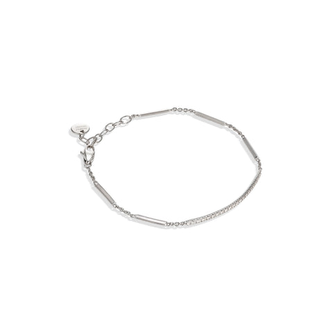 Marco Bicego® Goa Collection 18K White Gold Pave Diamond Bar Bracelet In White Gold