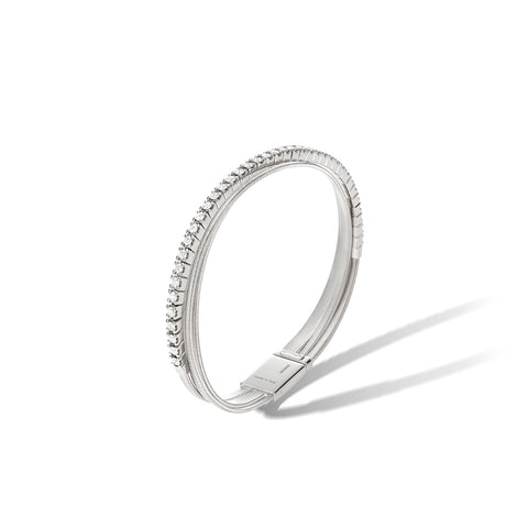Marco Bicego® Masai Collection 18K White Gold and Diamond Three Strand Bracelet