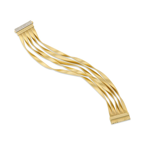 Marrakech Supreme Gold & Diamond Five Strand Cuff