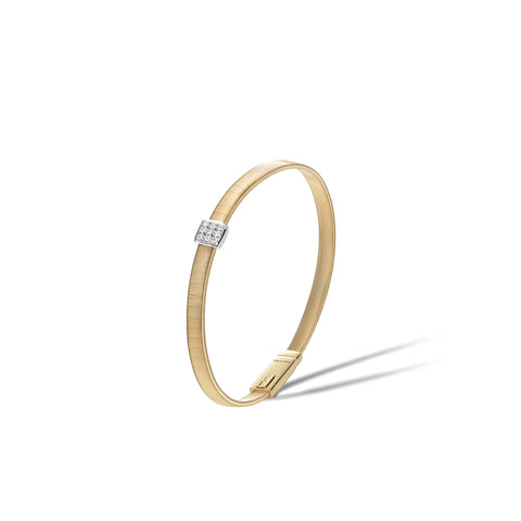 Marco Bicego® Masai Collection 18K Yellow Gold and Diamond Single Station Bracelet