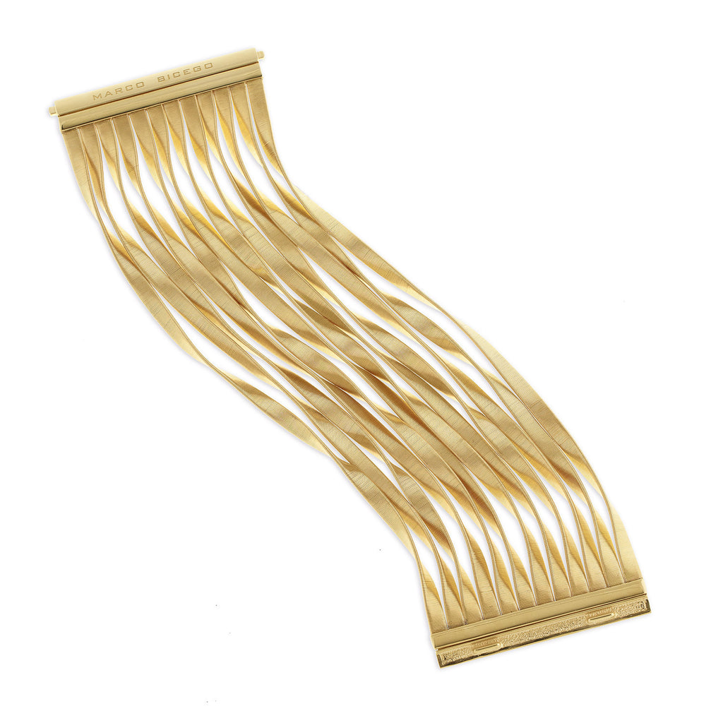 Marco Bicego® Unico Collection Marrakech Collection Yellow Gold Twelve Strand Bracelet