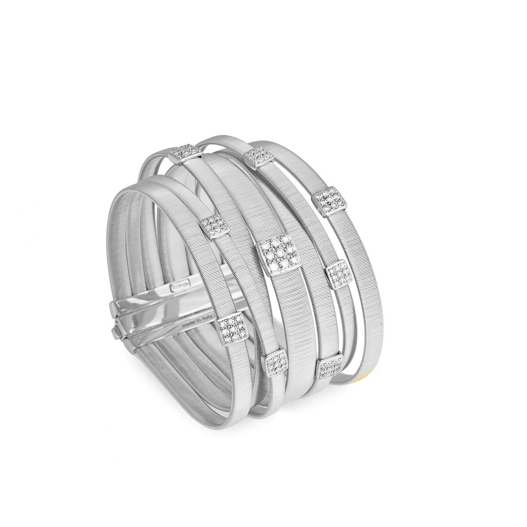 NEW - Masai Seven Strand Crossover Diamond Bracelet in White Gold