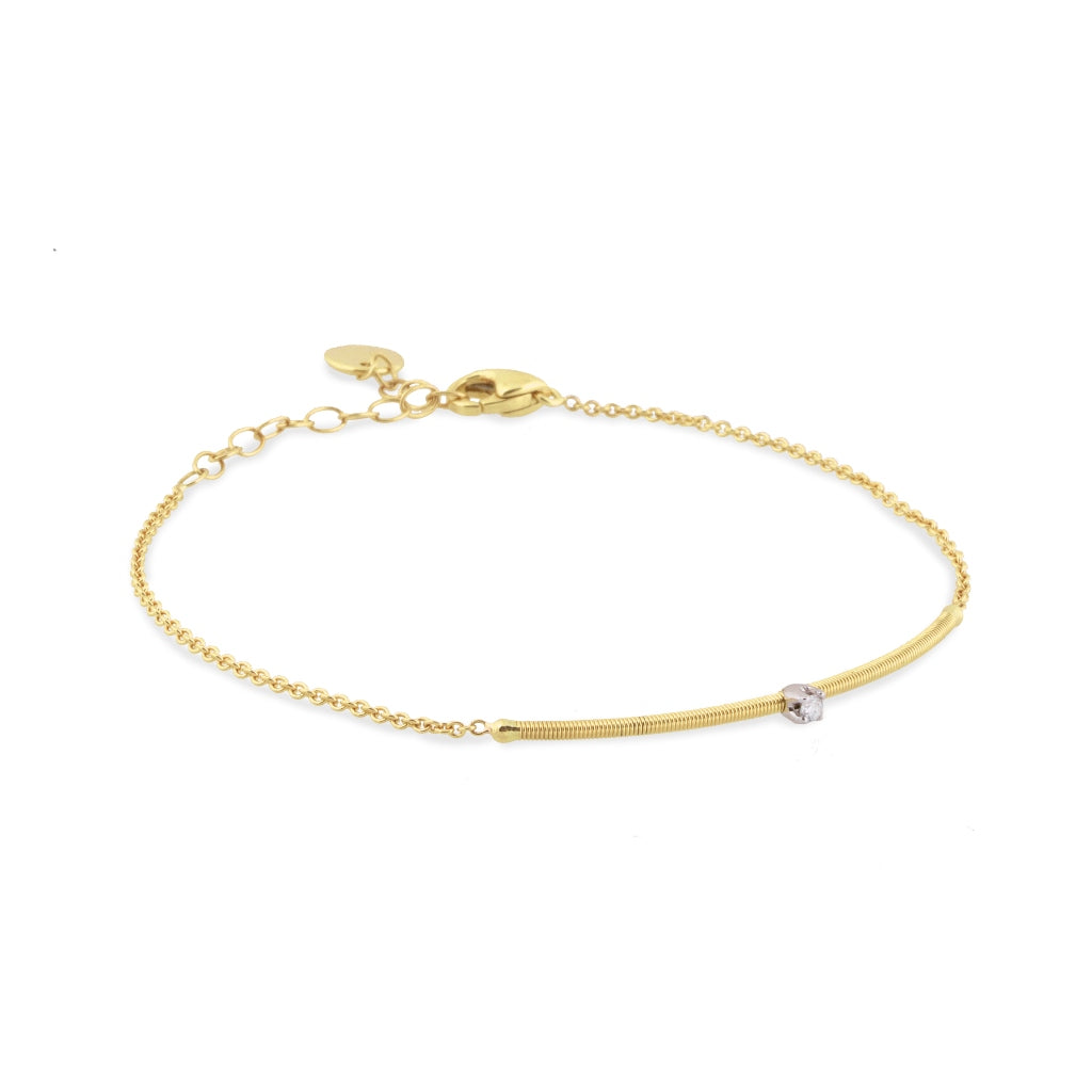Marco Bicego® Bi49 Collection 18K Yellow Gold and Diamond Bar Bracelet