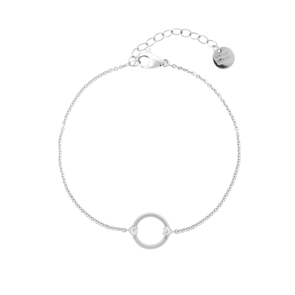 Marco Bicego® Bi49 Collection 18K White Gold and Diamond Circle Bracelet