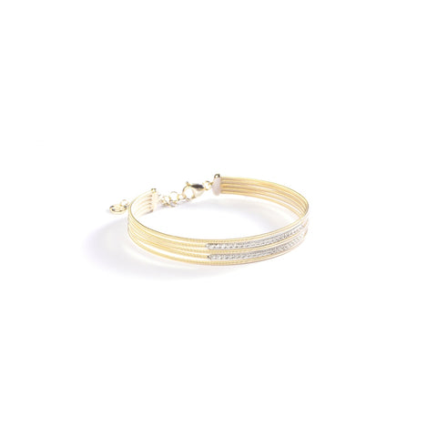 Marco Bicego® Bi49 Collection 18K Yellow Gold and Diamond Five Row Tennis Bracelet