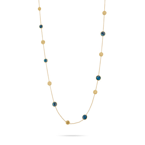 Jaipur London Blue Topaz Long Necklace