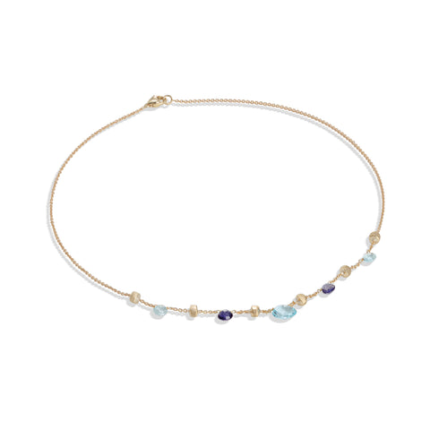 Marco Bicego® Paradise Collection 18K Yellow Gold Iolite and Blue Topaz Short Necklace