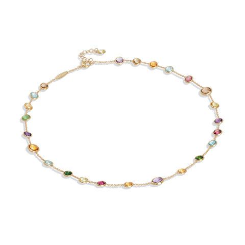 Marco Bicego® Jaipur Color Collection 18K Yellow Gold Mixed Gemstone Small Bead Necklace
