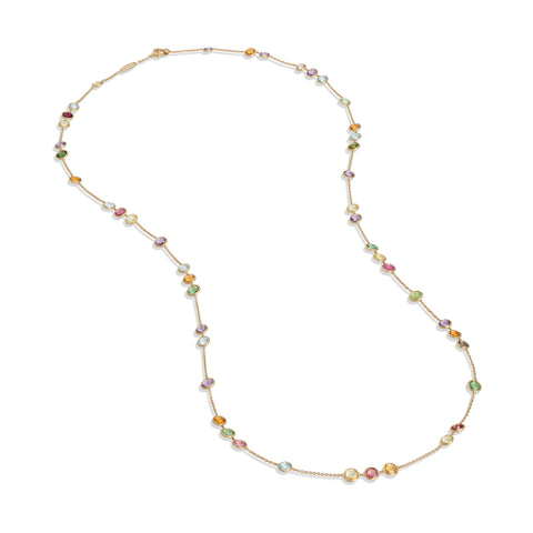 Marco Bicego® Jaipur Color Collection 18K Yellow Gold Mixed Gemstone Small Bead Long Necklace