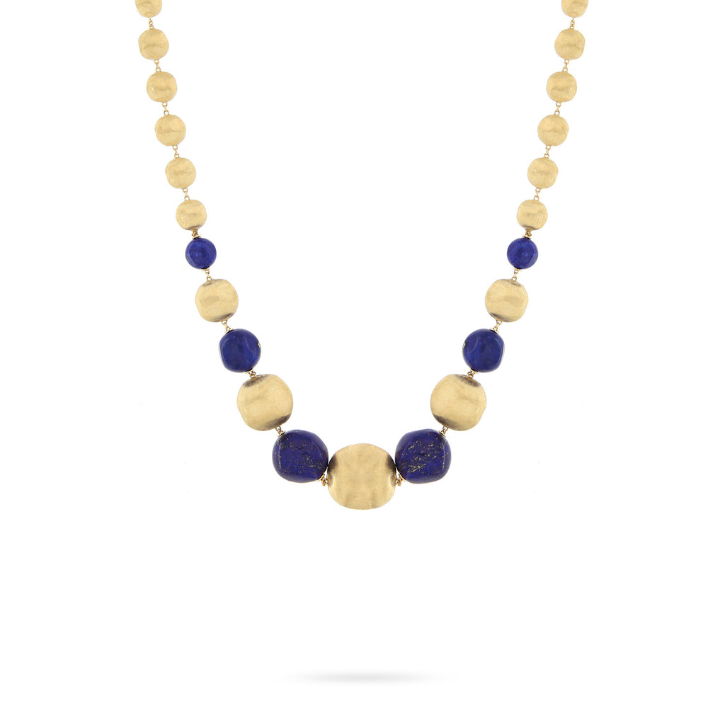Unico Africa Yellow Gold & Lapis Necklace