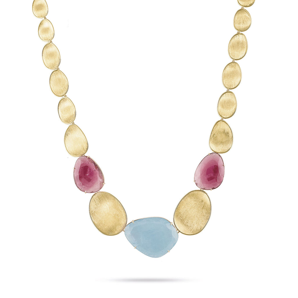 Unico Aquamarine & Pink Tourmaline Collar Necklace