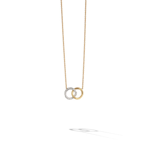Marco Bicego® Jaipur Collection 18K Yellow and White Gold Diamond Circle Link Pendant