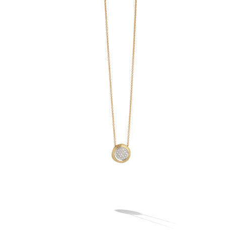 Marco Bicego® Jaipur Collection 18K Yellow and White Gold Diamond Bead Pendant