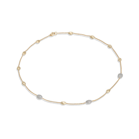 Marco Bicego® Siviglia Collection 18K Yellow Gold and Diamond Small Bead Necklace