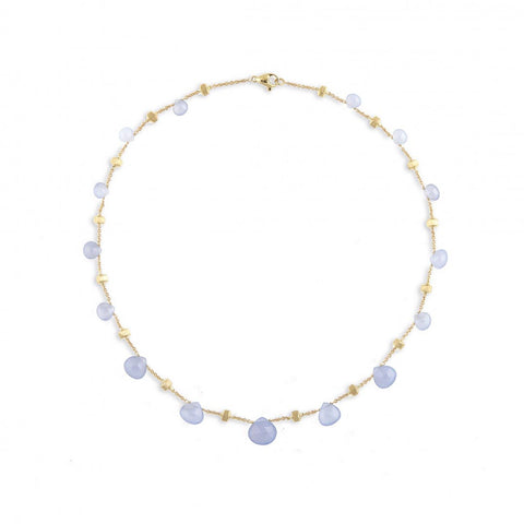NEW- Paradise Chalcedony Graduated Short Necklace
