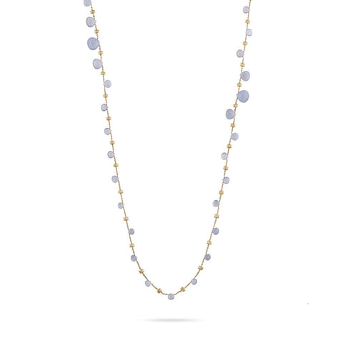 NEW- Paradise Chalcedonyy Graduated Long Necklace