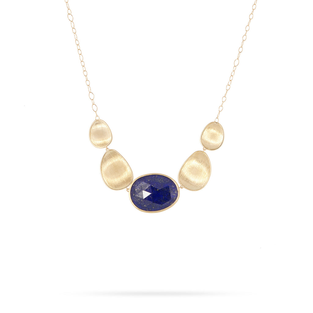 Lunaria Gold & Lapis Graduated Necklace