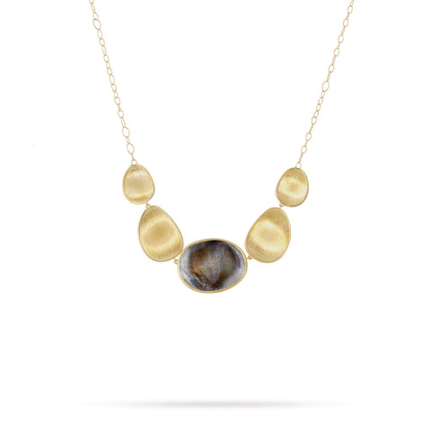 Lunaria Gold & Black Mother od Pearl Graduated Necklace