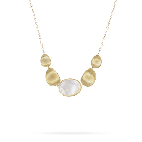 Marco Bicego® Lunaria Collection 18K Yellow Gold White Mother of Pearl Short Necklace