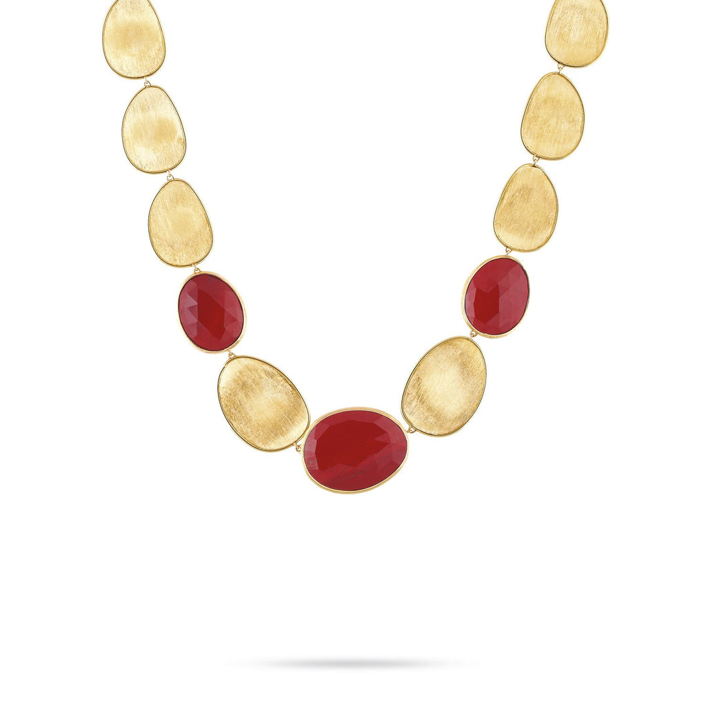 Lunaria Gold & Red Jasper Medium Collar Necklace
