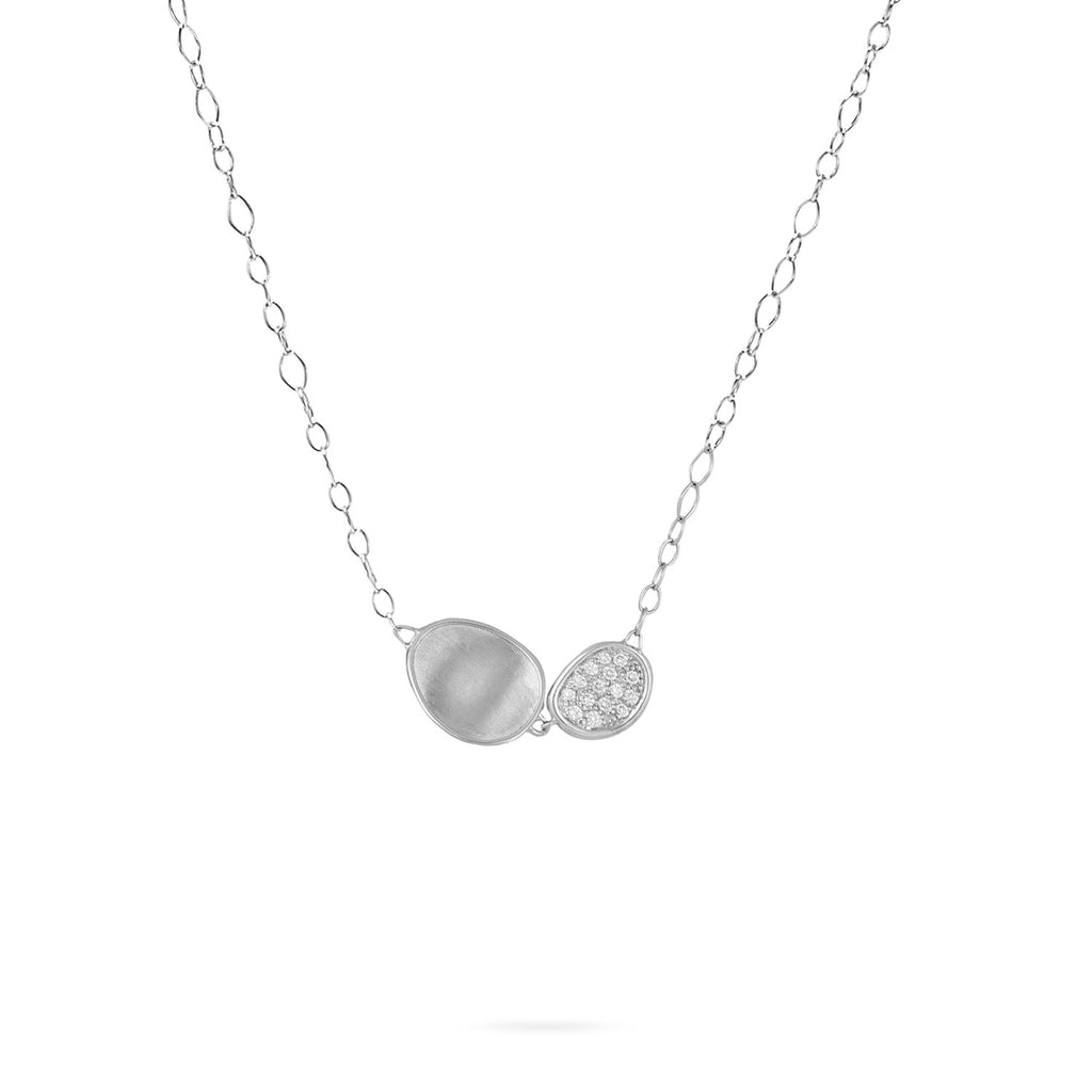 Marco Bicego® Lunaria Collection 18K White Gold and Diamond Pendant