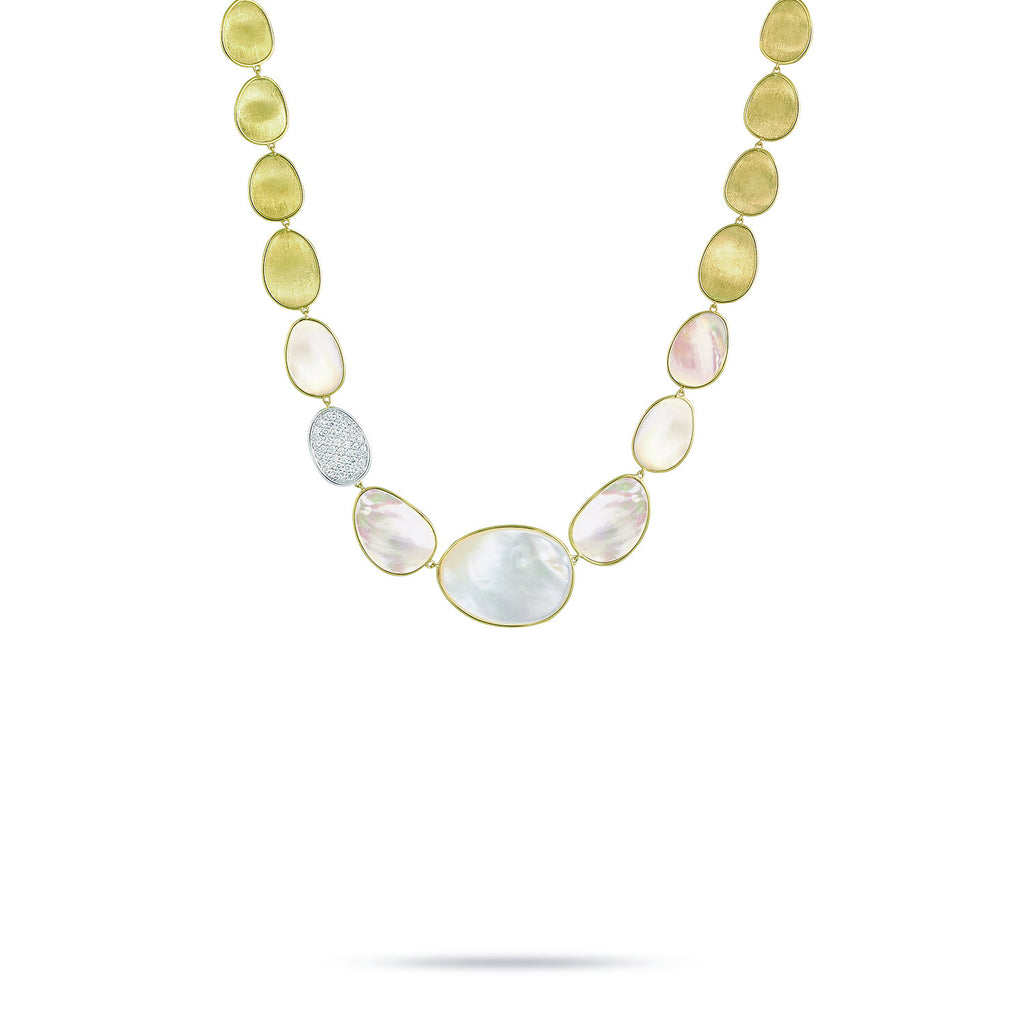 Lunaria White Mother of Pearl & Diamond Necklace