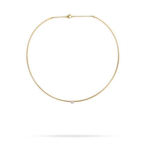 Luce Gold & Single Diamond Collar  - Exclusive