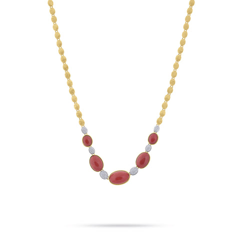 Unico Siviglia Coral and Diamond Necklace