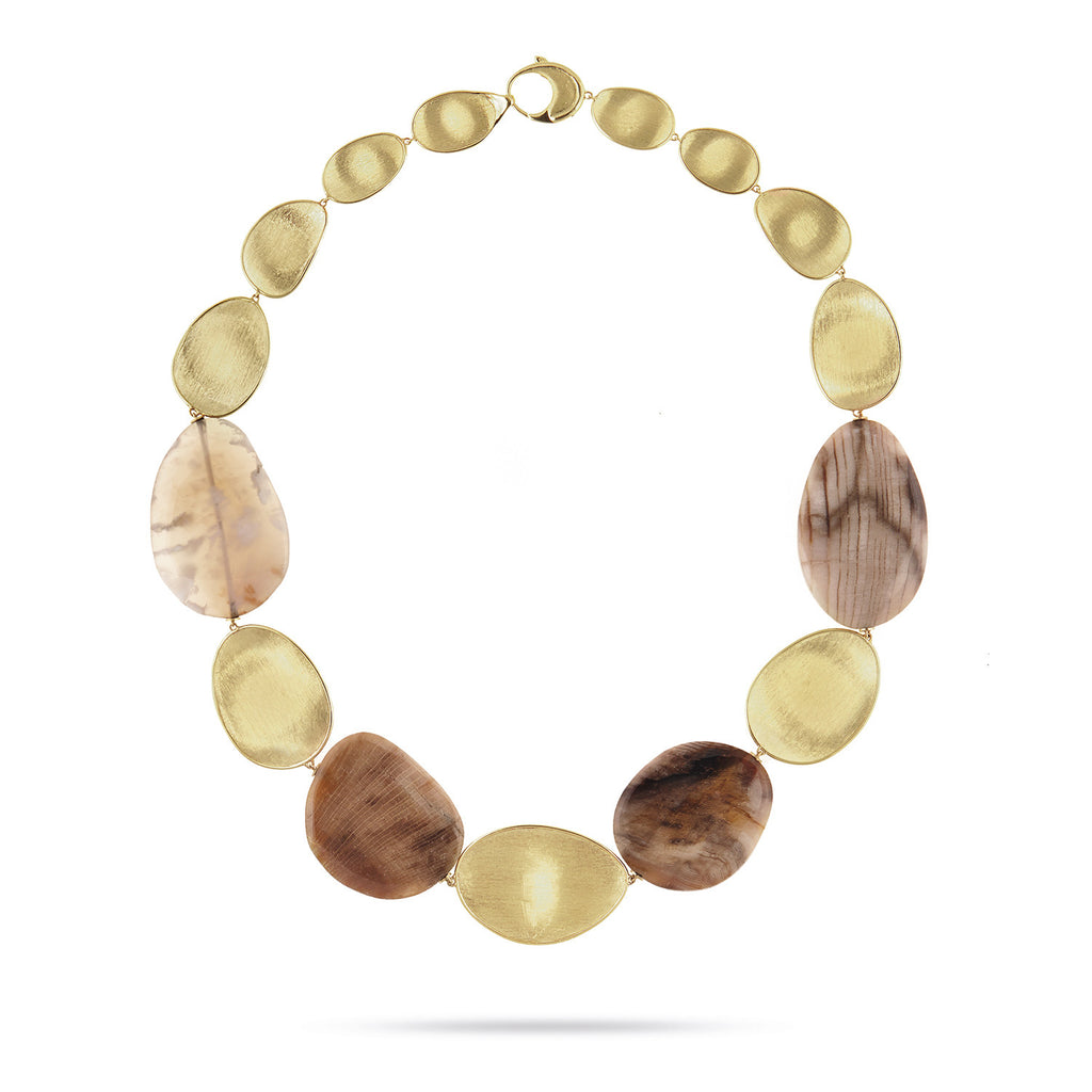 Exclusive - Unico Light Wood Opal Lunaria Collar