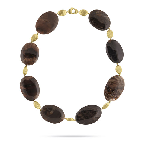 Exclusive - Unico Dark Wood Opal Siviglia Collar