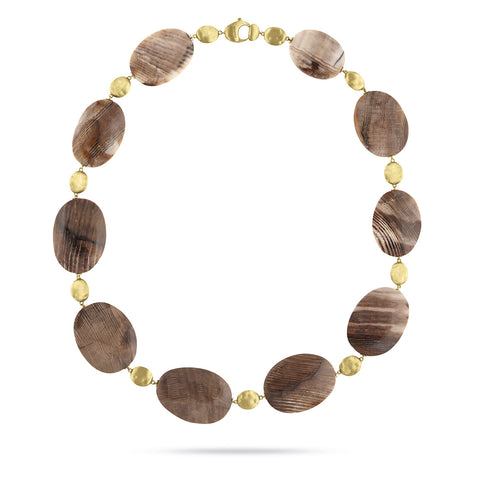 Exclusive - Unico Wood Opal Siviglia Collar