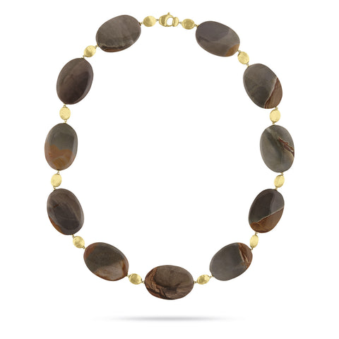 Unico Brown Landscape Jasper Collar