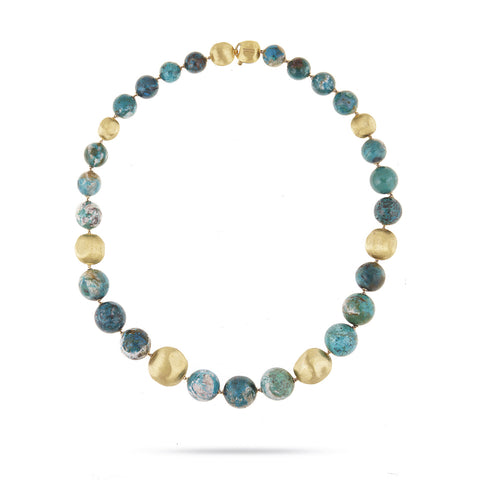 Exclusive - Unico Graduated Chrysocolla Africa Collar