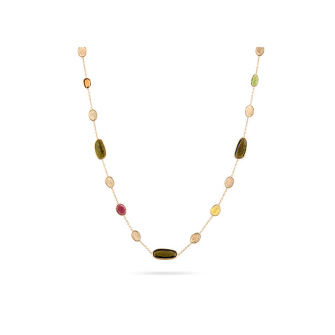 Unico Lunaria Yellow Gold & Mixed Tourmaline Necklace