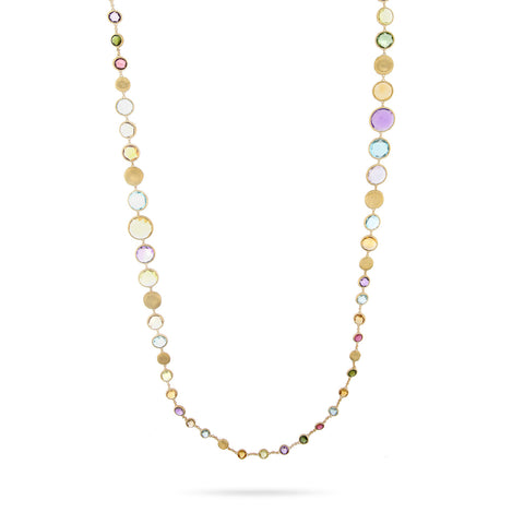 Jaipur Graduated Multicolor Gemstone Necklace